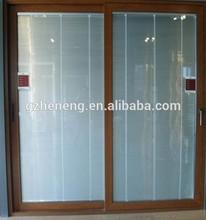 wooden color ssliding door /aluminium framed sliding glass door/aluminium sliding doors
