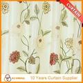 100% de lujo de poliéster estilo bordado cortinas para puertas