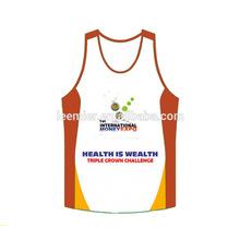 Men's custom logo printing sports tank top