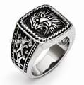 custom animale leone anelli in acciaio inox o in argento sterling in