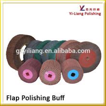 fiber sponge flap buffer for stainless steel dinnerware surface polish
