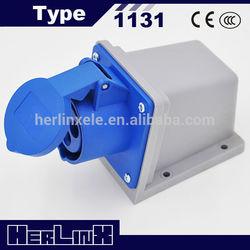 ip55 waterproof industrial plug and socket 1131 16A 2P+E 220V