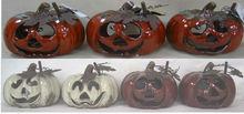 Ceramic pumpkins(2 color asst'd)