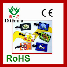 various kinds 3d rubber/silicon photo frame luggage tag