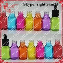 Child&tamerproof dropper colored 15ml special glass bottles e liquid