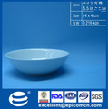 Liso blanco redondo de cerámica de cereales a granel boles/cuencos 5.5''/14cm sin el diseño de
