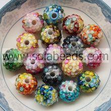 Iridescent 12*14MM Acrylic Resin Loose Ball