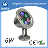 Good waterproof ip68 stainless steel 6W led fountain light with CE&RoHS