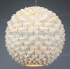 Pineapple-shaped decorative handmade bamboo pendant lighting