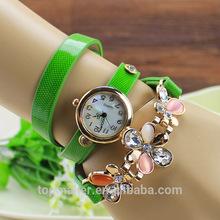 Three flower bracelet watch fashion lady bright skin three bracelets quartz watch