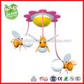 Miel de abeja de dibujos animados para niños lámpara de araña, los niños de la lámpara colgante decoración para la habitación