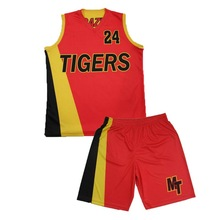 dye-sublimation basketball jersey set wholesale