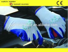13G poly liner nitrile coated glove,oil-proof,anti-acid,anti-alkali nitrile glove