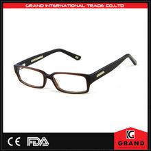 nero occhiali moda di plastica con clip sul magnetico