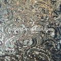 lentejuelas y cuentas de encaje bordado de tela