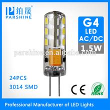 AC/DC 12V SanAn or Epistar Chip 360 Degree 1.5W G4 LED Bulb