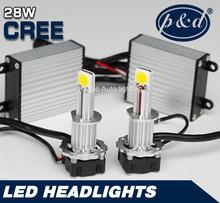 2014 Newest design high power 28W auto h4 led headlight