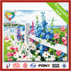 2014 newest hot sale high quality 100%cotton printed wood handmade oil painting wallpaper on canvas