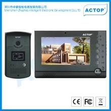 ACTOP Digital 7inch color commax door video intercom system with night version,doorbell