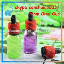 OEM ODM manufacturer ,kinds of essential oil glass bottle purple essential oil glass bottle with new cap