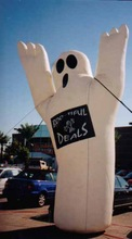 Custom made outdoor giant inflatable ghost with air blower S8005