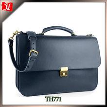 Vintage leather briefcase hard briefcase bag with secret compartment