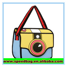3D comic shoulder bag popular camera bag