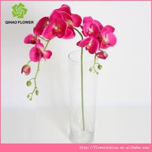 2 cabeça da orquídea de plástico arranjo de flor artificial para guirlanda