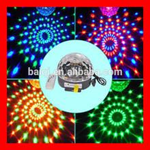 led magic ball light/disco party decorations/led rotating disco mirror ball