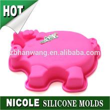 Nicole large size silicone chocolate molds pig shaped