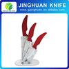 3 pcs 2014 HOT SALE Color Ceramic Kitchen Knife Sets with Acrylic Block