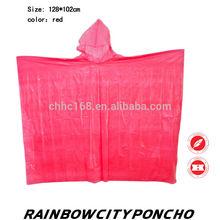 durable PE raincoat rain cape poncho