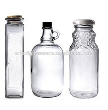 High quality clear airtight glass bottle