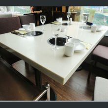 Anti pollution popular style composite acrylic resin stone BBQ table