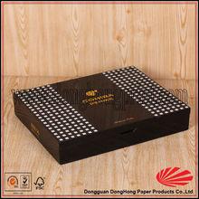 Brand name printed fancy gift packaging wood cigar box