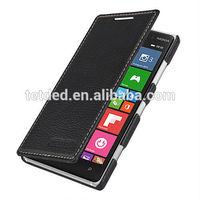 OEM Premium Leather Case for Nokia Lumia 830 -- Dijon II (LC: Black)