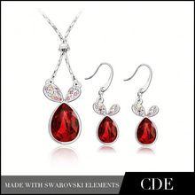 Trending Hot Silver Wedding Jewelry Set