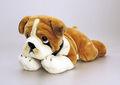 Mini stoffhund, bulldog plüsch hund, realistisch Bulldogge