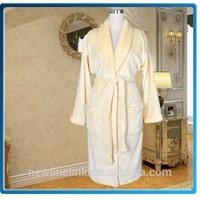 100% microfiber flannel dressing gown promotional bathrobe manufacturer