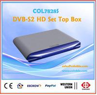 COL7828S hd dvb s2 fta receiver, home used satellite tv receiver box