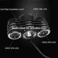 JEXREE Multi-Function High Power Max Brightness1800Lm 1xCREE XM-L2+2xXPG LED waterproof cree led bike helmet light mount