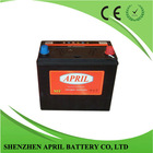 Factory OEM Auto Battery Dry Charged Car battery With DIN/JIS Standard