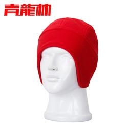 Dragon Lin ear cap thicker winter skiing double -color fleece warm fleece ear cap cold cap