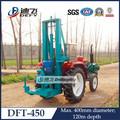 Manuel tracteur dft-450 120m profondeur d'eau de forage de puits pour la vente