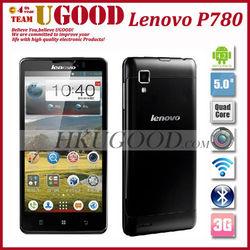 Original Lenovo P780 Phone Quad Core MTK6589 Android 4.2 5.0 inch 1280x720 1GB RAM 4GB ROM 8.0MP 4000mAh battery GPS