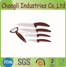 Red Handle Modern Innovation designed Ceramic Kitchen Knife