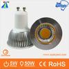 New product aluminum 5w led COB led spot light tuning light