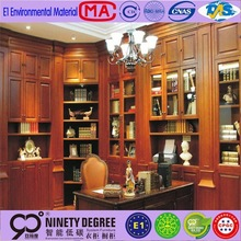 glazed popular design wood bookcase with 5 layers have color determine