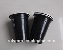 Hot sale! Beautiful Black double color disposable plastic cups