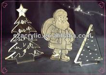 2014 hot custom acrylic christmas ornament wholesale